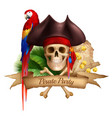 pirate party realistic composition vector image