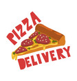 pizza delivery fast food dishes online service vector image vector image