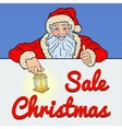 Pop Art Santa Claus with Christmas Sale Banner vector image vector image