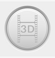 round white button 3d movie vector image vector image