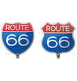 Route 66 Signs vector image vector image