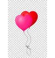 ruby red and vibrant pink pair of realistic heart vector image vector image