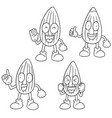 set of almond cartoon vector image
