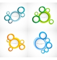 Set of circles backgrounds vector image