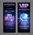 set of disco background banners big lounge party vector image vector image