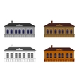 Set of houses in different colours vector image vector image