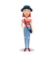 smiling female student in fashionable clothes and vector image vector image