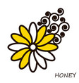 Summer honey flower with curls floral element