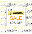 summer sale layout banner vector image vector image