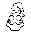 symbol of Santa Claus face vector image