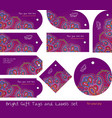 tags for gifts and goods hippie purple vector image vector image
