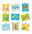 taiwan sightseeings pictures collection on white vector image vector image