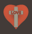the cross of jesus and the heart vector image vector image