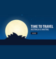 time to travel travel to australia australia is vector image vector image