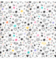 trendy hand drawn background abstract seamless vector image vector image