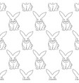 white rabbit seamless background vector image vector image