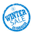 winter sale clearance rubber stamp vector image