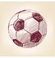 soccer ball hand drawn llustration realistic vector image