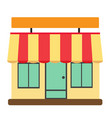 store front shop and market vector image