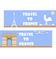 welcome to france banner in a flat style tourism vector image