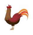 Rooster farm animal cartoon icon vector image