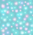 Abstract seamless pattern with hearts on blue vector image