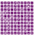 100 pointers icons set grunge purple vector image vector image