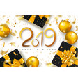 2019 happy new year background for holiday vector image vector image