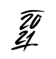2021 year brush text isolated on a white vector image vector image