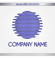 abstract company name blue and silver round logo vector image vector image