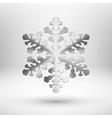 Abstract metal Christmas snowflake