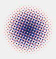 abstract spotted halftone circles radial blue vector image vector image