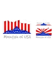 American mountain as the United States flag vector image vector image