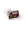 black friday sale with discount banner explosion vector image vector image