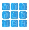 Blank plastic canisters flat linear icons vector image