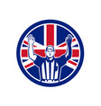 british american football referee union jack flag vector image vector image