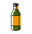 champagne bottle isolated vector image vector image