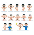 characters bodybuilding game flat icon man vector image