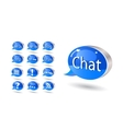 chat forum blog rss help bubbles vector image vector image