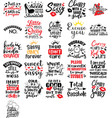 collection sassy phrases slogans or quotes vector image