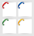 Color corner ribbon on a white paper vector image vector image
