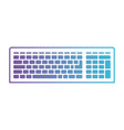 computer keyboard in degraded purple to blue vector image vector image