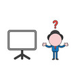 confused businessman character with blank vector image
