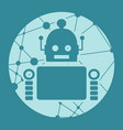cute abstrat robot vector image vector image