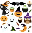 cute halloween party vector image vector image