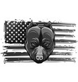 design head bully dog with american flag vector image