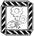 doodle danger machinery vector image vector image