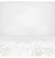 Empty white room with wooden floor vector image vector image