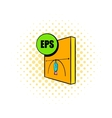 EPS file icon comics style vector image vector image