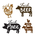 Farm Animal and text vector image vector image